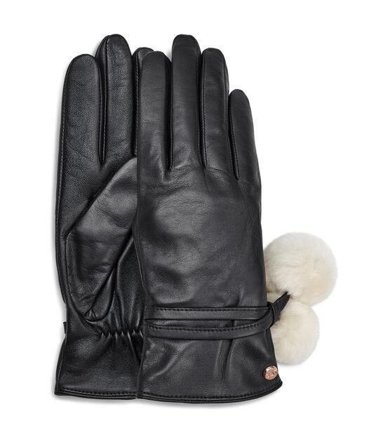 Leather Pom Glove