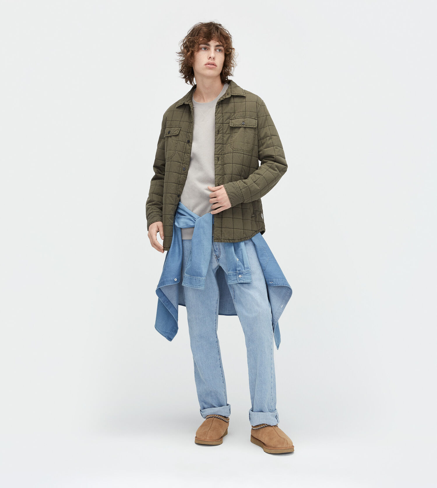Mens Quilted Shirt Jacket Ugg Official Ugg