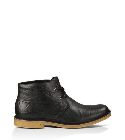 UGG Mens Leighton Boot Wool In Black, Size 9EEE
