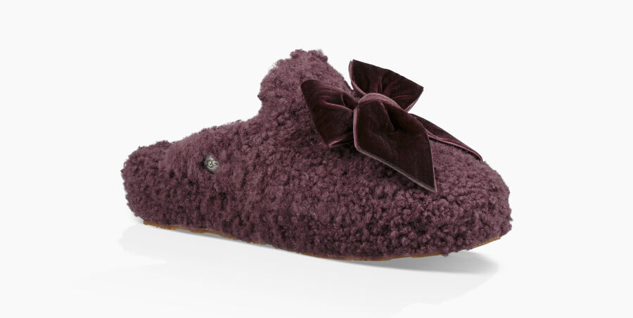 Addison Velvet Bow Slipper - Image 1 of 6