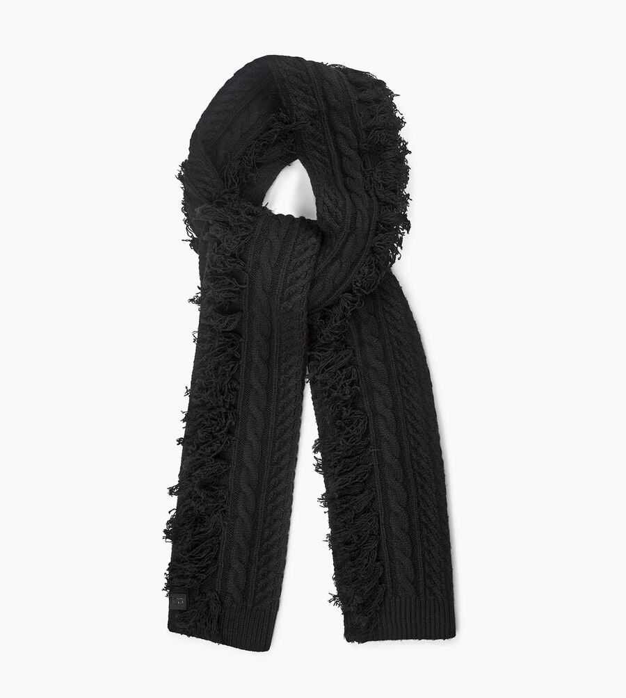Cable Fringe Scarf - Image 2 of 3