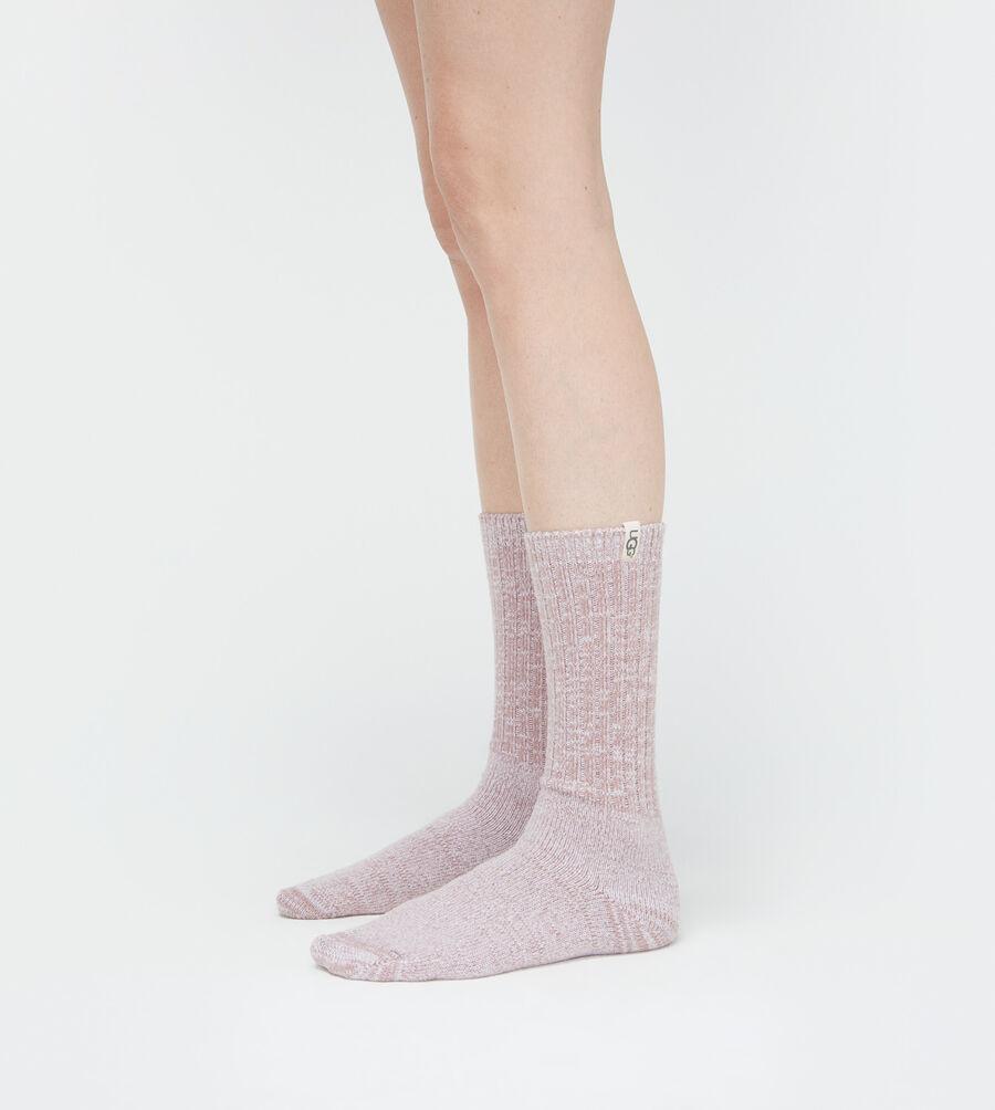 Rib Knit Slouchy Crew Sock - Image 5 of 5