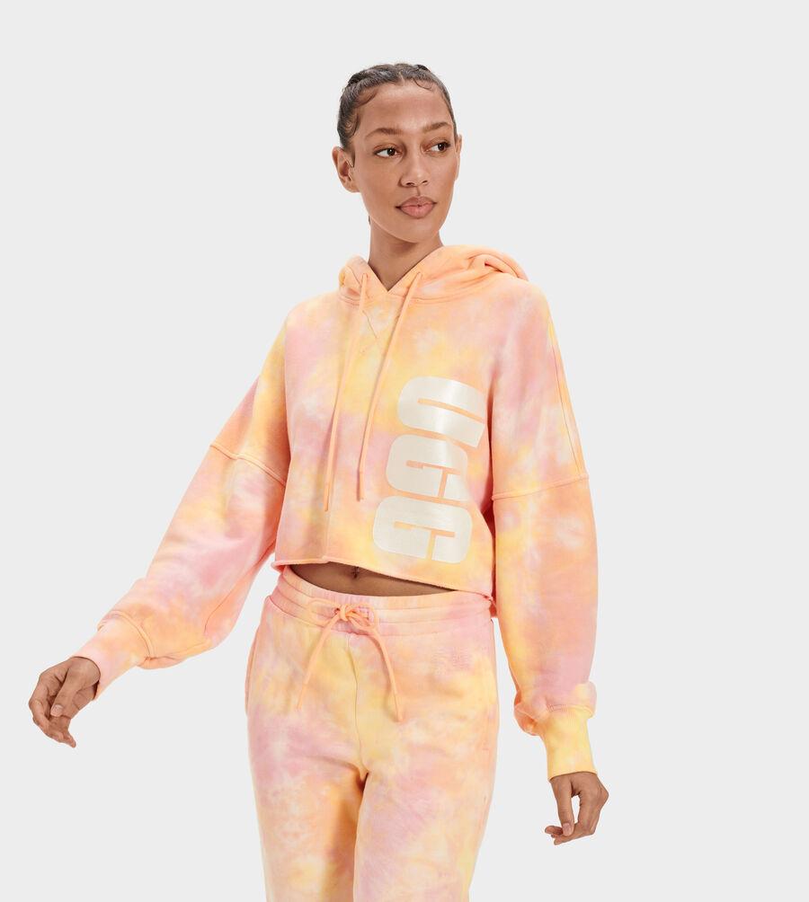 Keira Cropped Hoodie Tie Dye - Image 3 of 5