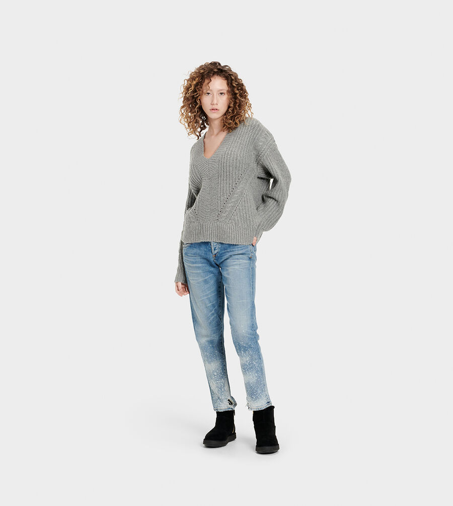 Alva Deep V-Neck Sweater - Image 6 of 6