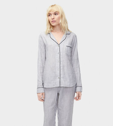Raven Stripe PJ Set