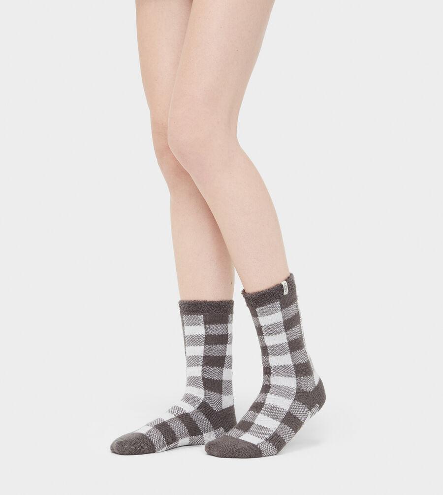 Vanna Check Fleece-Lined Sock - Image 2 of 2