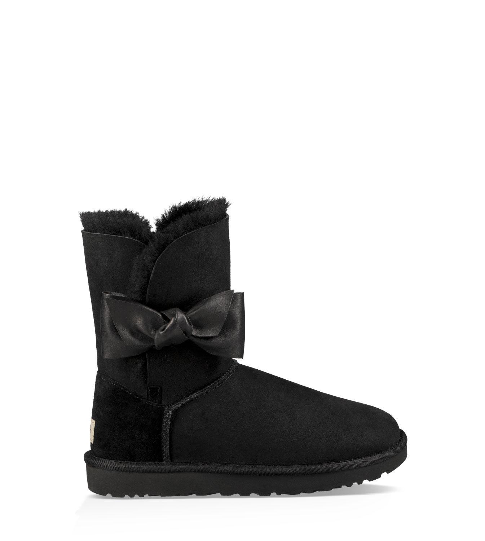 UGG Boots Womens - UGG Jasper Leather Black  AIS19045