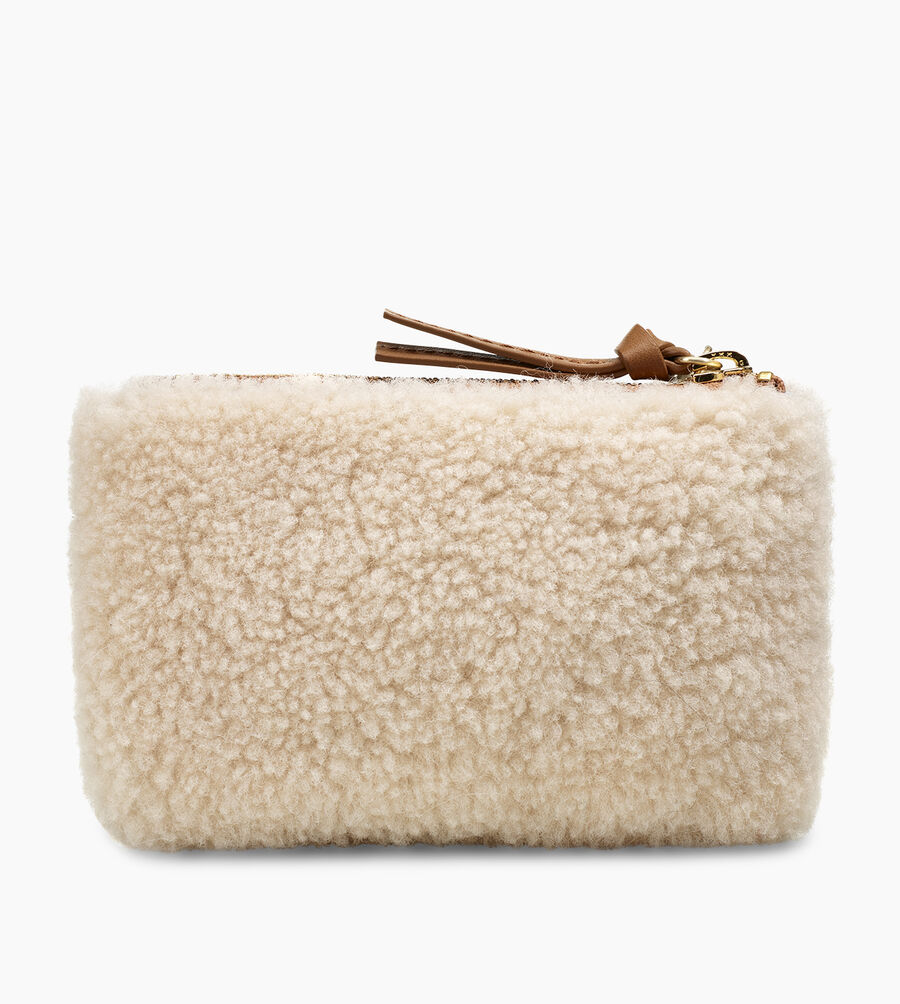 Small Sheepskin Zip Pouch  - Image 3 of 5