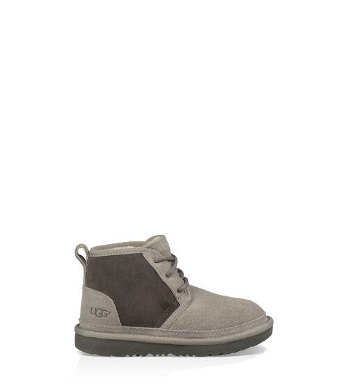 UGG Kids Neumel II Boot Sheepskin In Charcoal, Size 3