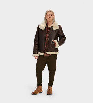 Auden Shearling Aviator Jacket Alternative View