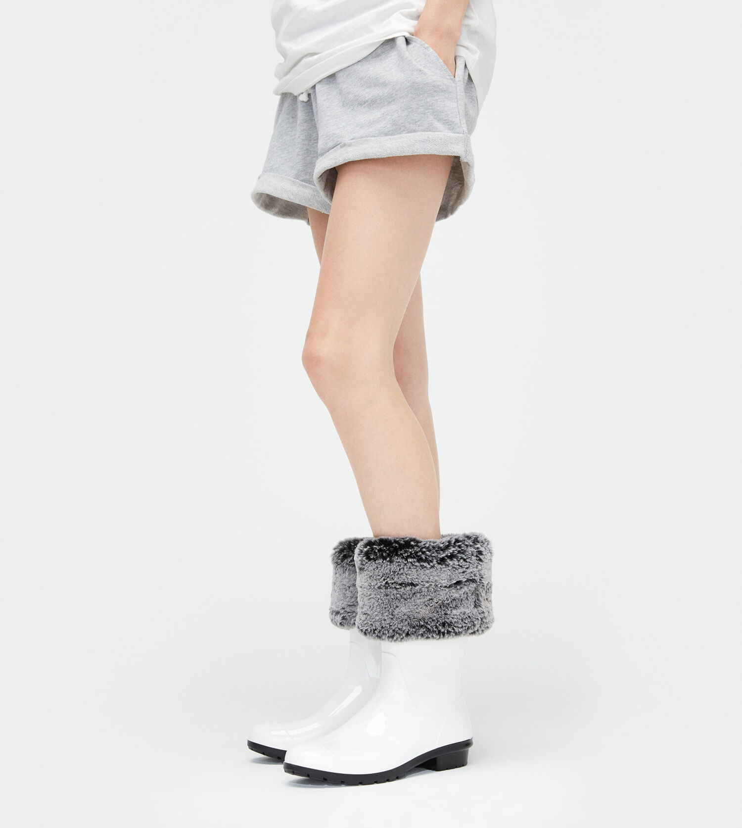 c1a68b2d4d8 Women's Share this product Faux Fur Short Rainboot Sock