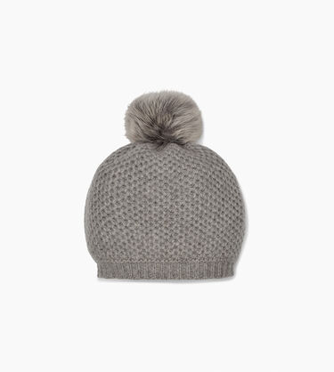 Aislinn Honeycomb Knit Pom Hat