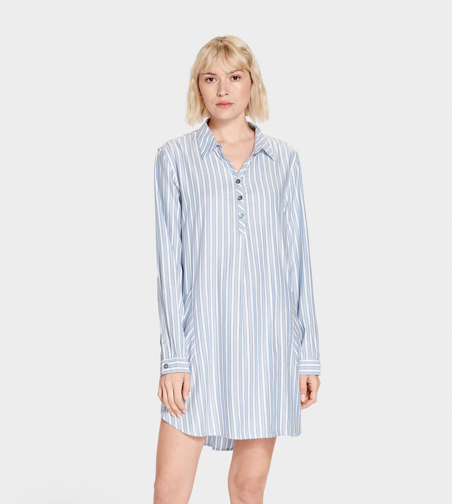 Gabri Stripe Sleep Dress - Image 1 of 6