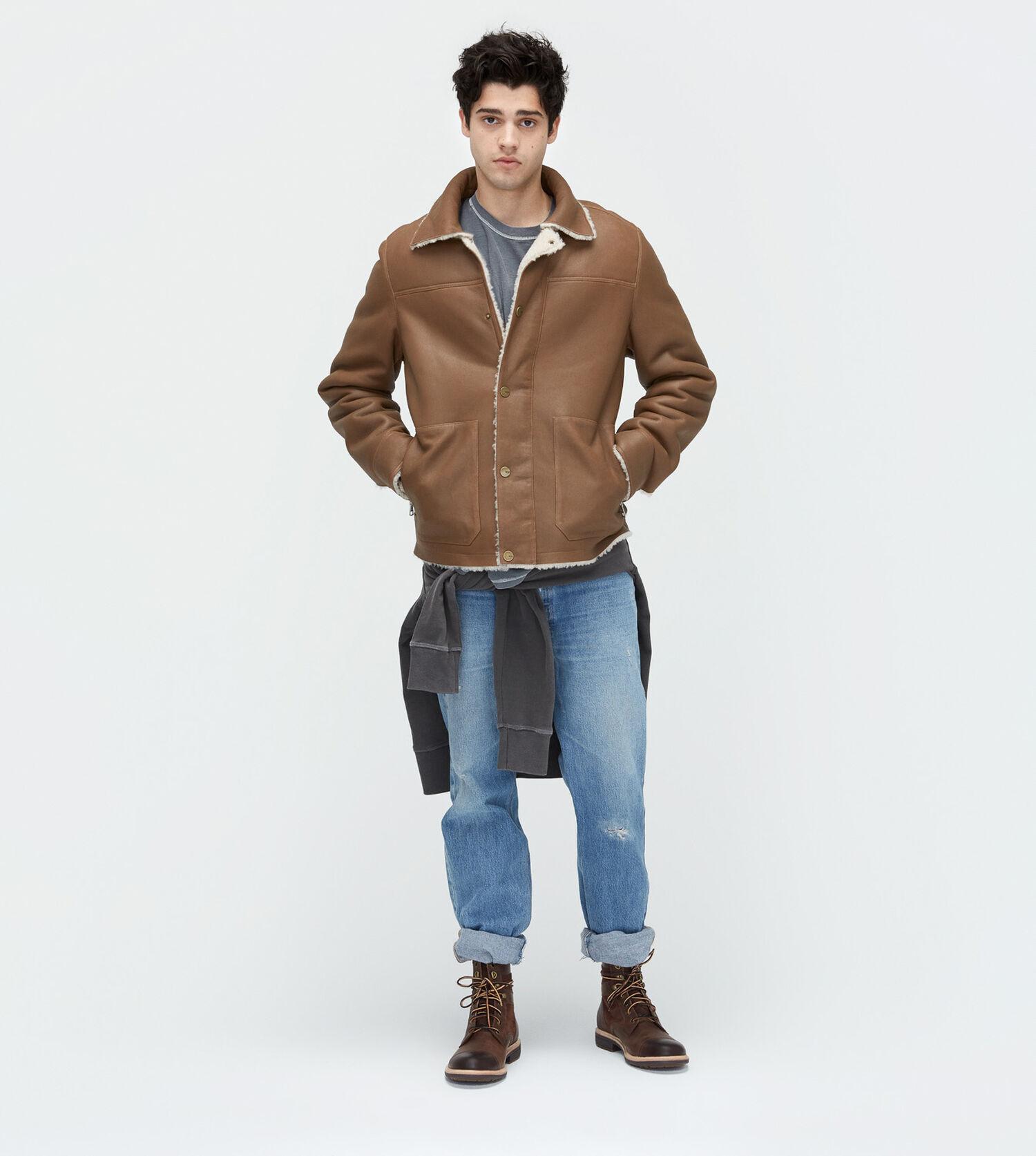 Men S Shearling Worker Jacket Ugg 174 Official Ugg Com
