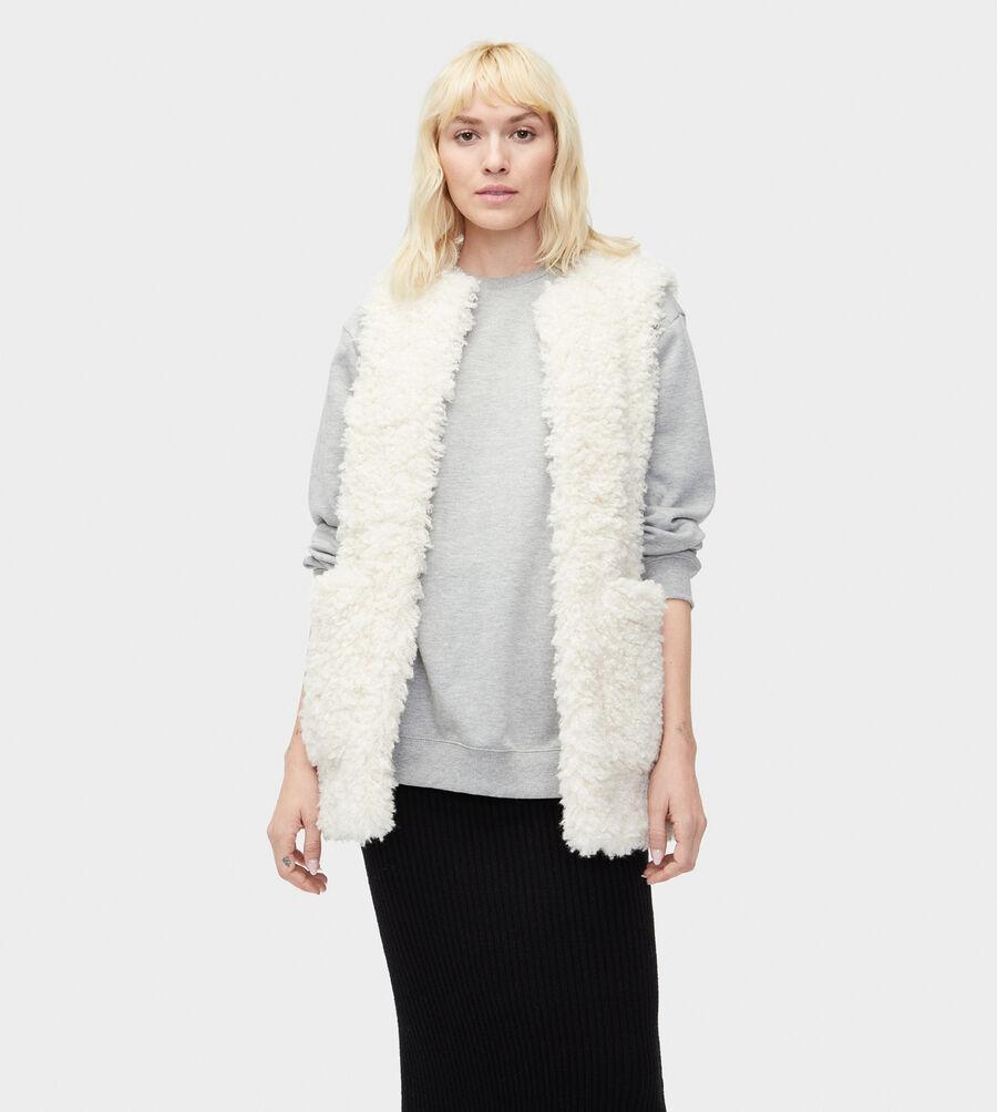Farrah Faux Fur Vest - Image 1 of 4