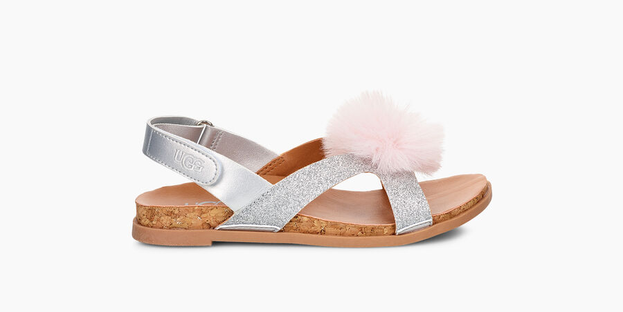 Fonda Glitter Pom Sandal - Image 1 of 6