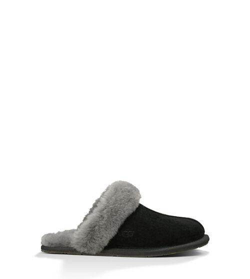 UGG Womens Scuffette II Slipper Wool In Black| Grey, Size 11