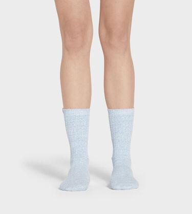 Rib Knit Slouchy Crew Sock