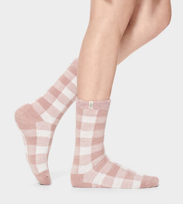 Vanna Check Fleece Lined Sock