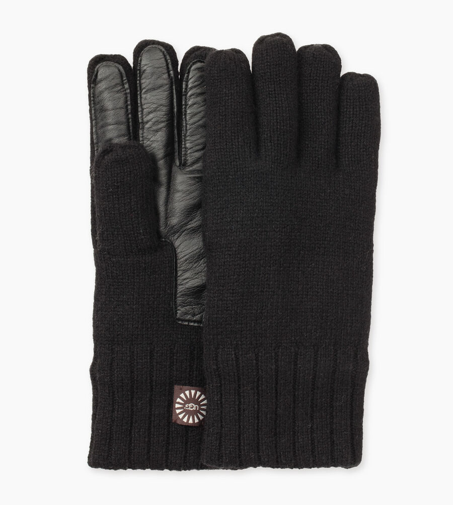 Knit Glove With Smart Leather Palm - Image 1 of 3