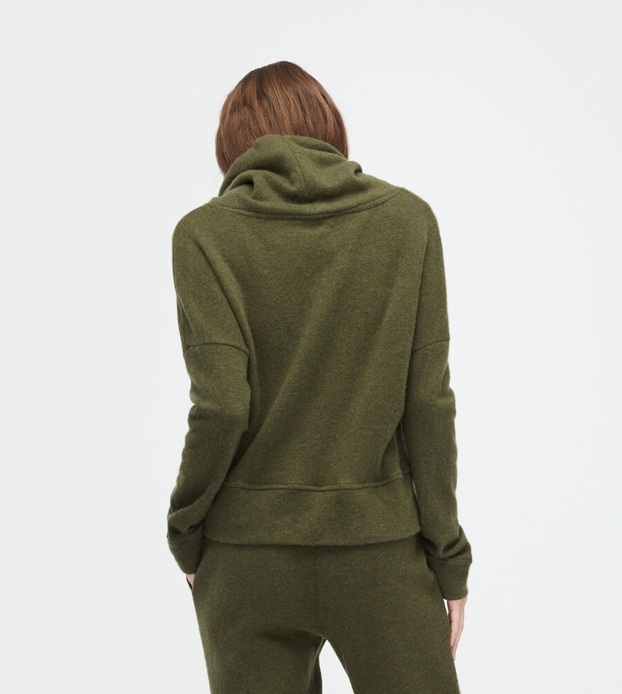Wool Jersey Knit Funnel Neck - Image 2 of 2