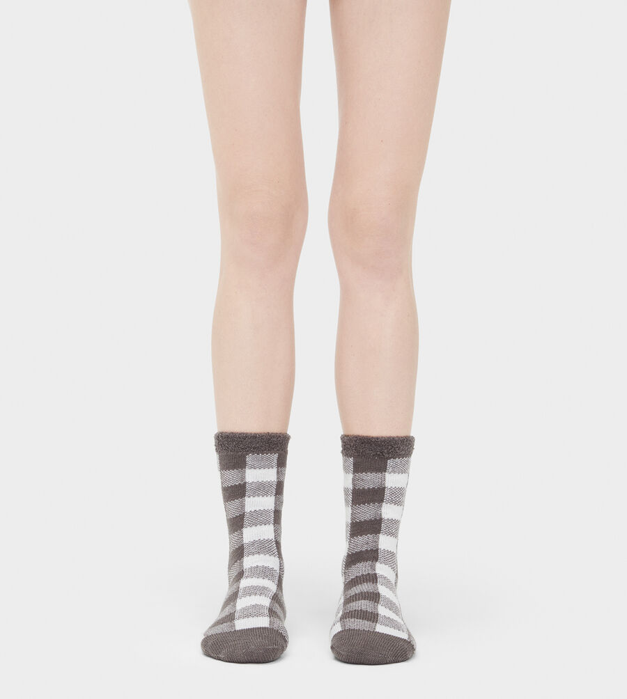 Vanna Check Fleece-Lined Sock - Image 1 of 2