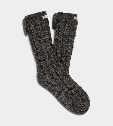 Laila Bow Fleece Lined Sock