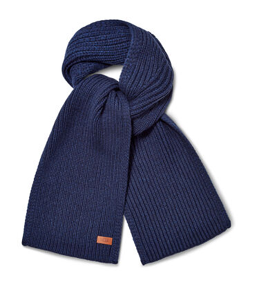 Ribbed Knit Stripe Scarf