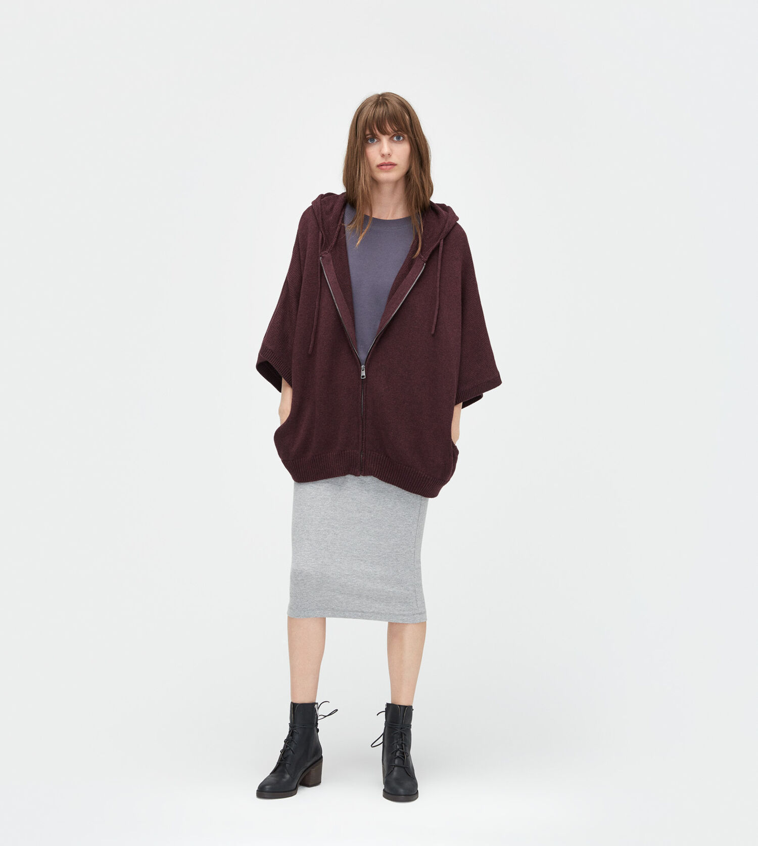 Zip Up Sweater Poncho 92