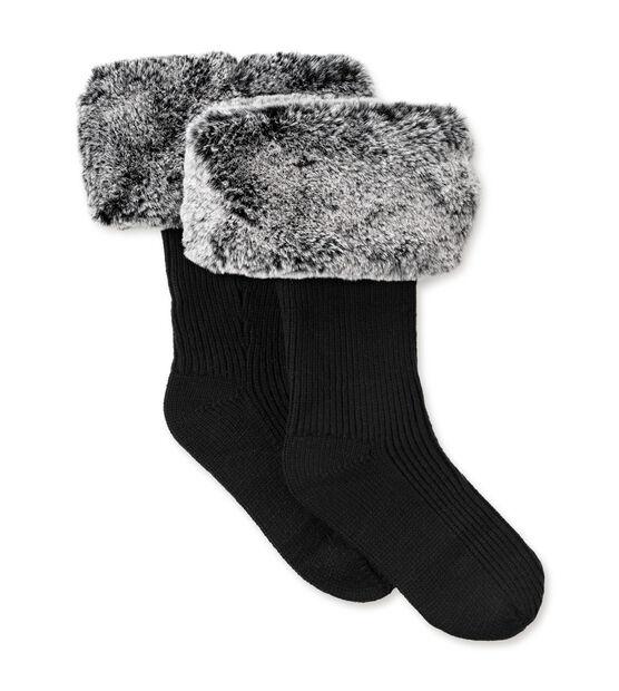 5f5114d8c Women s Faux Fur Tall Rain Boot Sock