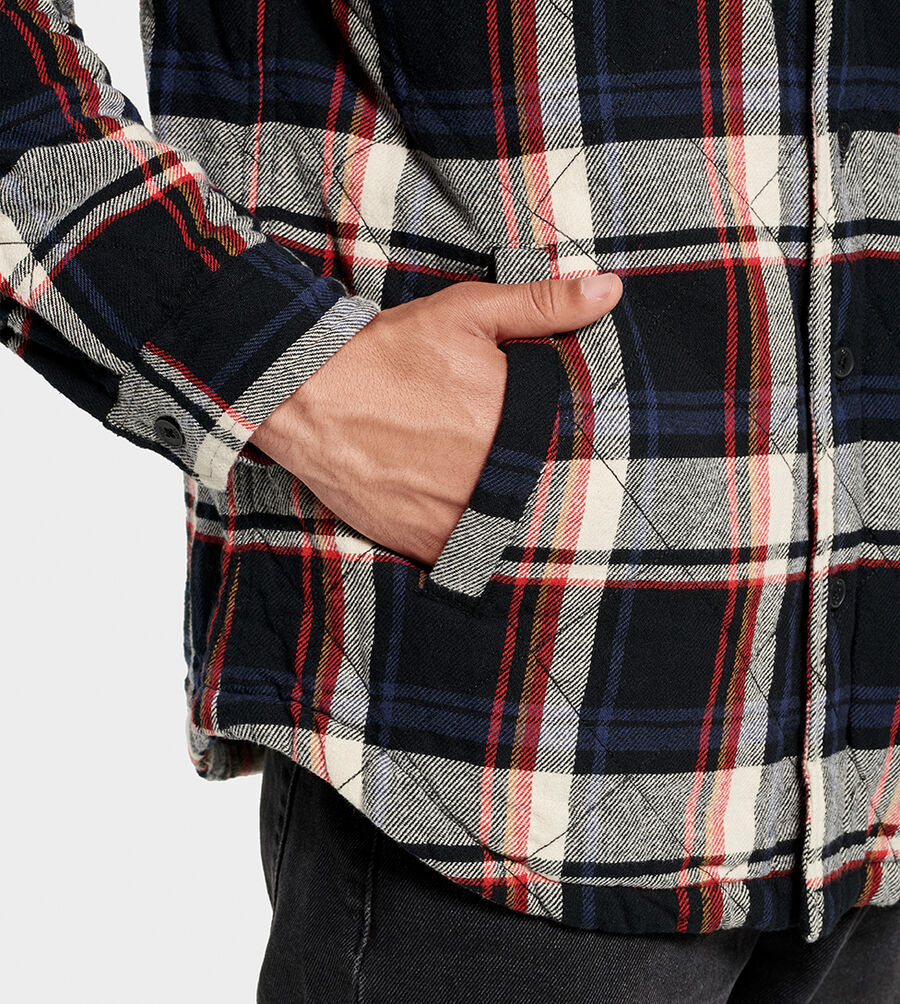 Trent Quilted Shirt Jacket Plaid - Image 3 of 6
