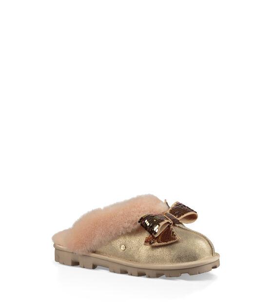 Coquette Sequin Bow Slipper