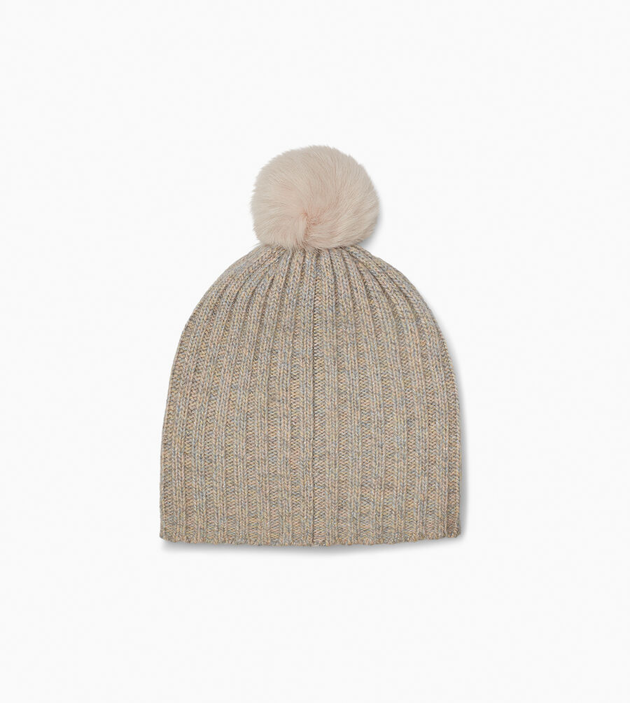 Pippa Rib Knit Pom Hat - Image 2 of 2