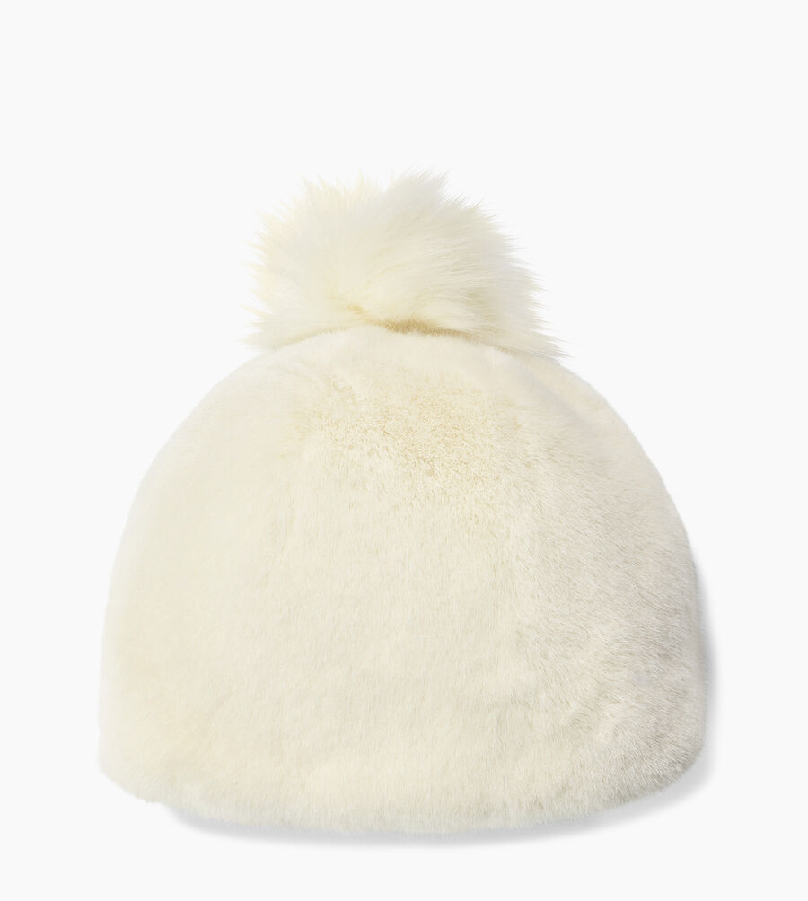 Faux Fur Beanie with Pom - Image 1 of 2