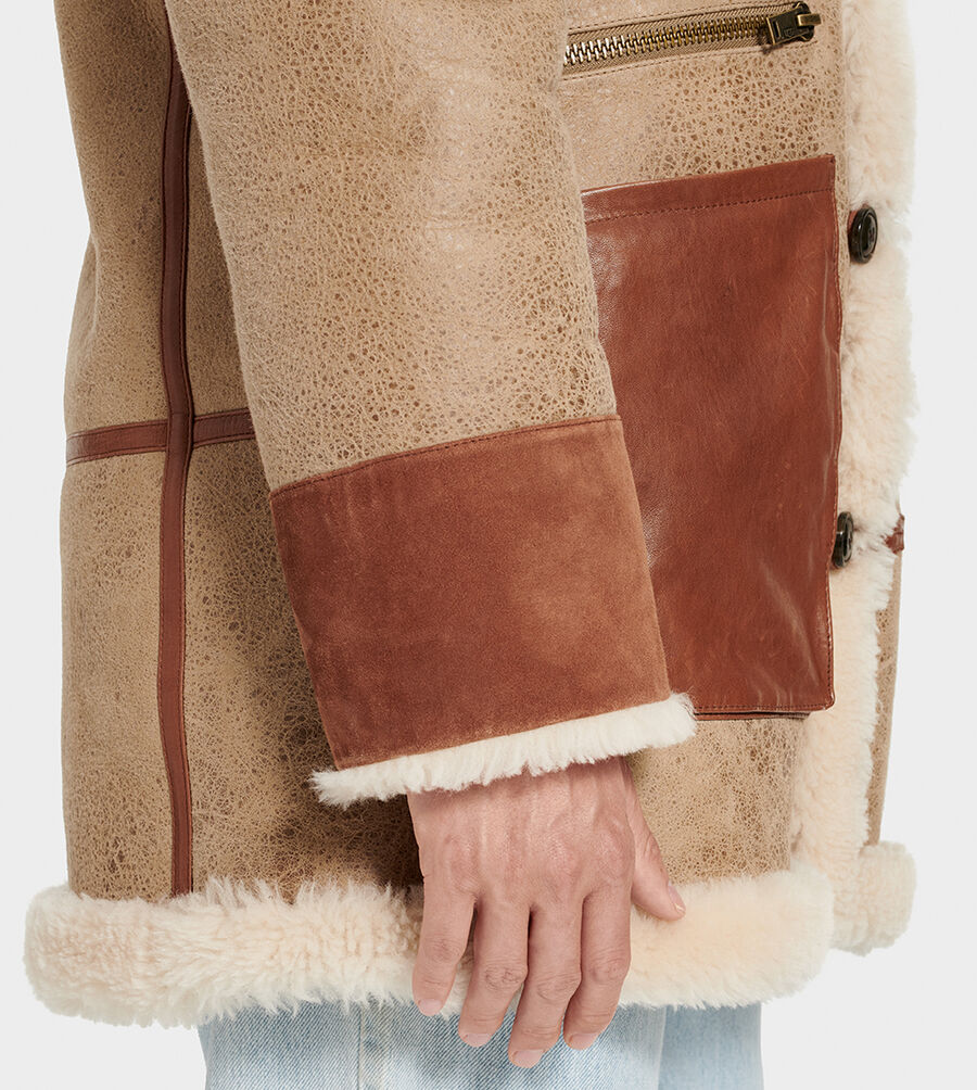 Yates Shearling Hooded Coat - Image 5 of 6