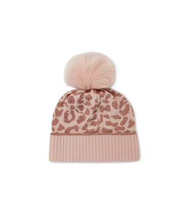 AGGIE CASHMERE LEOPARD BEANIE Alternative View