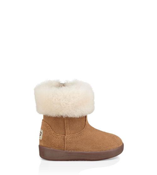 UGG Infants Jorie II Boot Sheepskin In Chestnut, Size 4|05