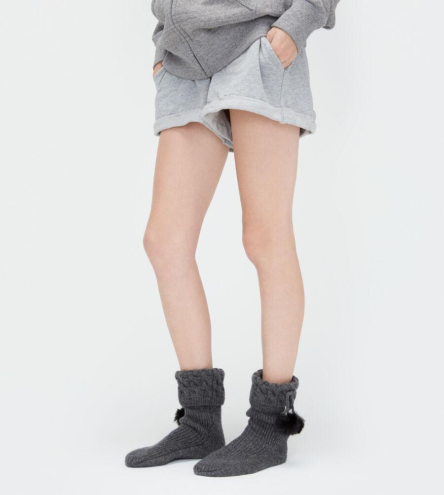 Pom Pom Short Rainboot Sock - Image 2 of 3