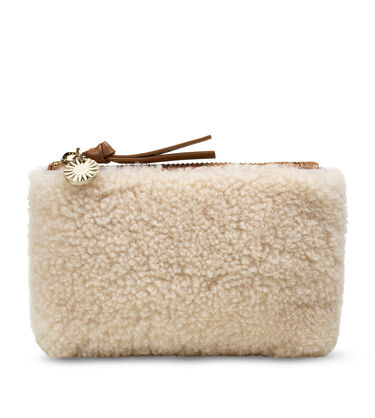 Sheepskin Small Zip Pouch
