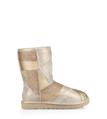 Classic Glitter Patchwork Boot
