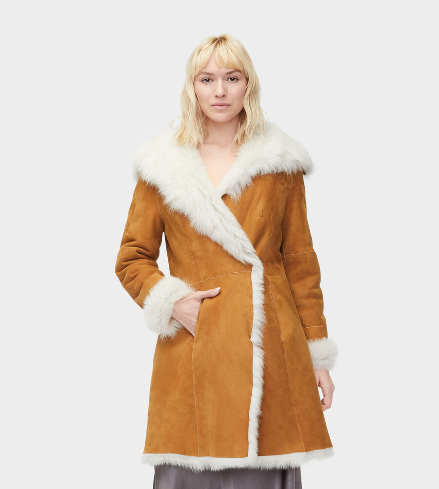 Women S Toscana Shearling Coat Ugg 174 Official Ugg Com