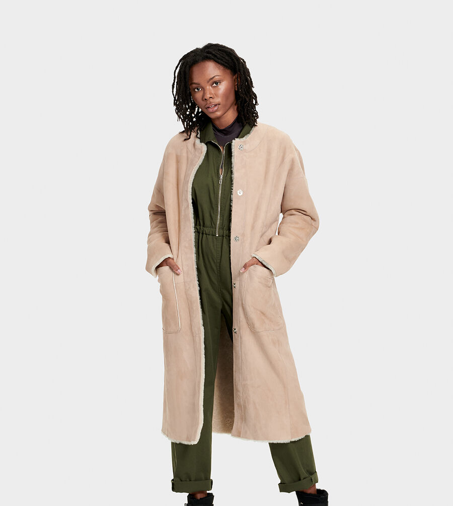 Remy Reversible Shearling Coat - Image 1 of 6