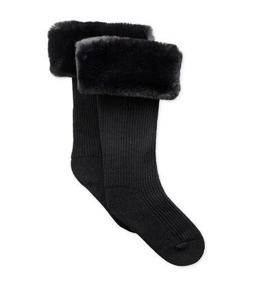 Faux Fur Tall Rainboot Sock