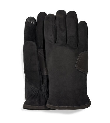 M Suede Logo Patch Glove