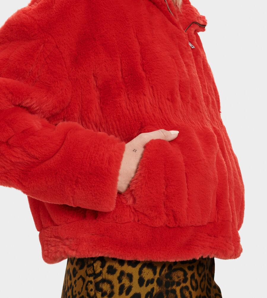 Mandy Faux Fur Hoodie - Image 4 of 5