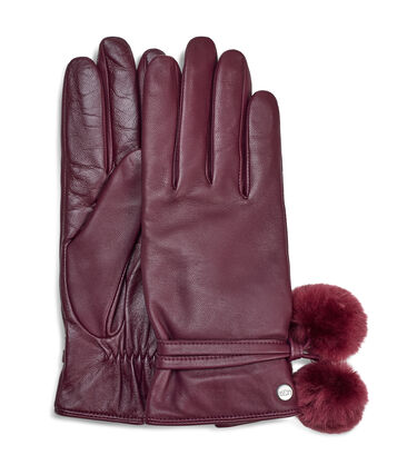 Leather Pom Glove