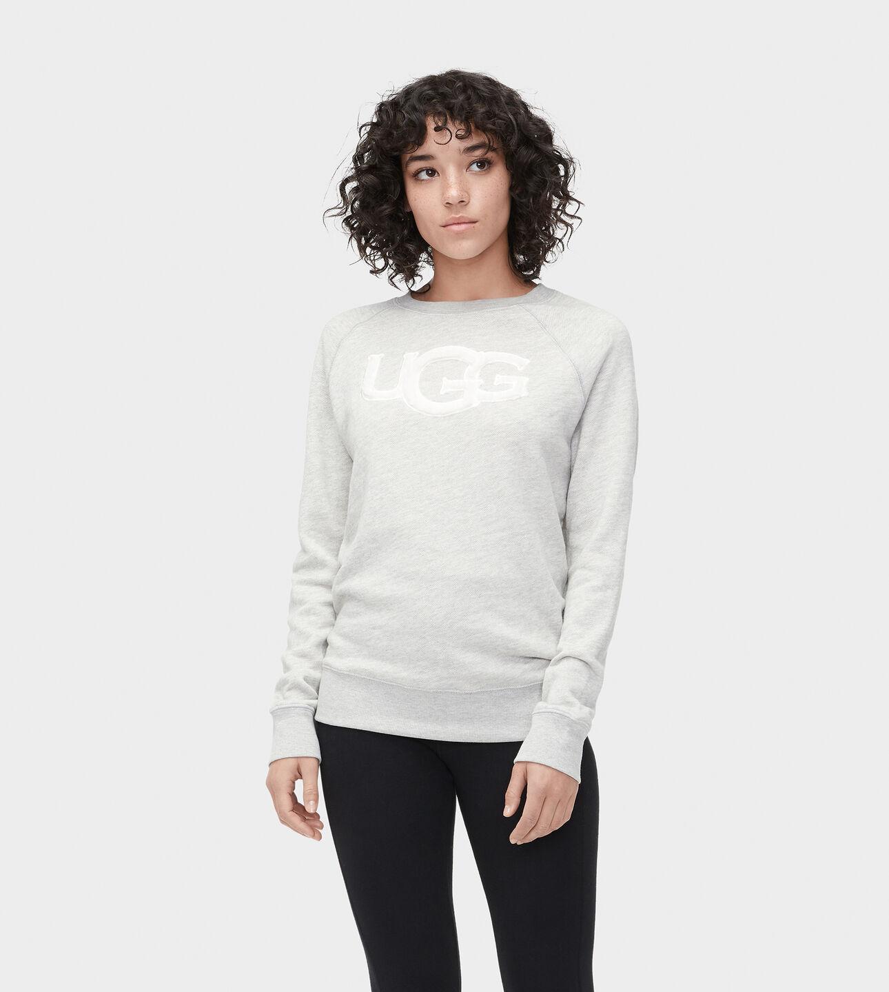 Fuzzy Logo Sweatshirt Ugg Us
