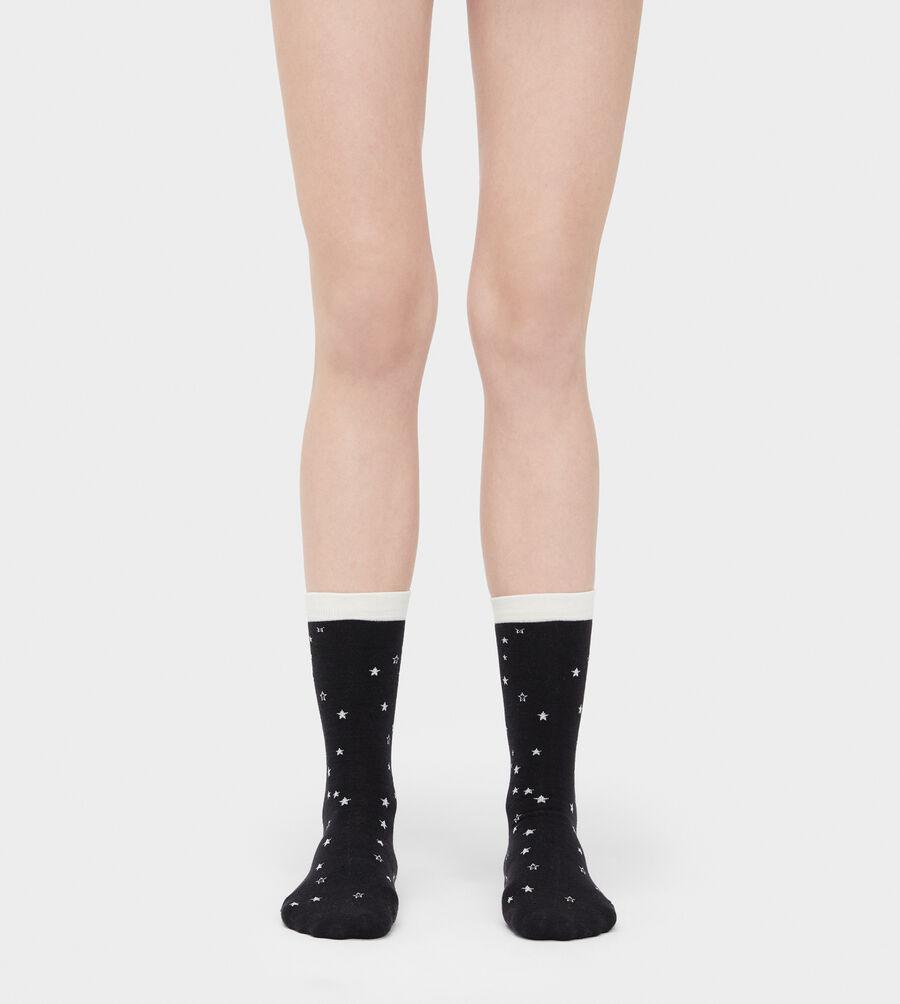 Merino Wool Star Crew Sock - Image 1 of 2
