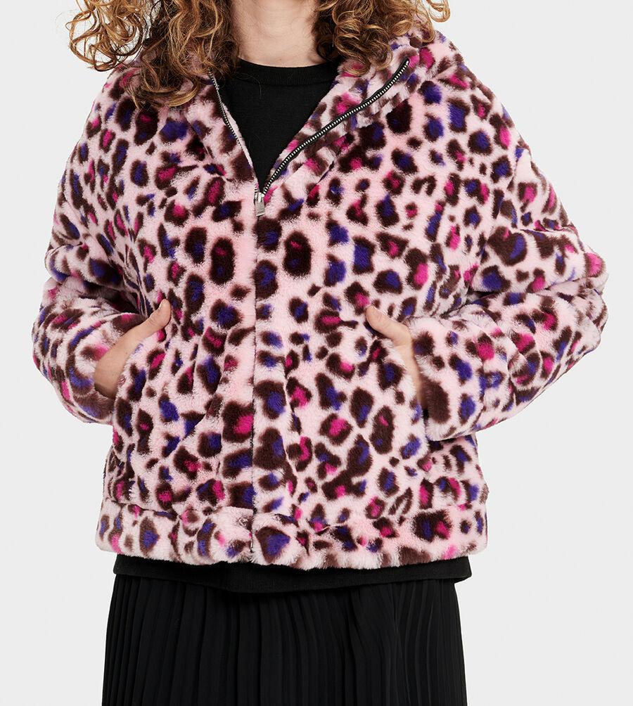 Mandy Faux Fur Hoodie - Image 3 of 6