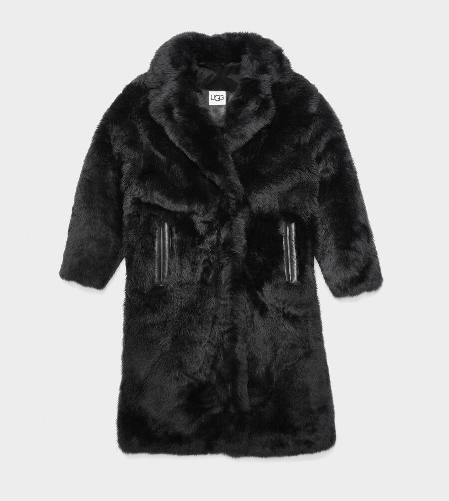 Esme Long Shearling Coat - Image 1 of 1
